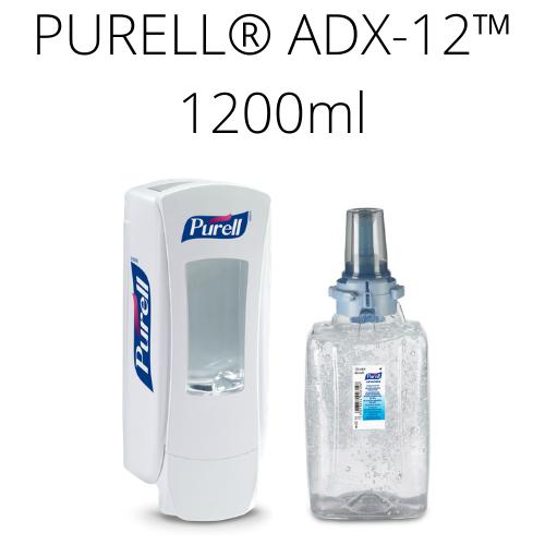 Zestaw startowy PURELL® ADX™ 1200 ml (biały dozownik + wkład)