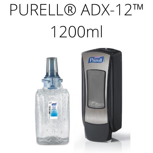Zestaw startowy PURELL® ADX™ 1200 ml (czarno-srebrny dozownik + wkład)