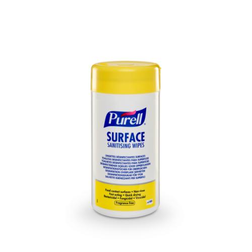 Chusteczki dezynfekujące do powierzchni PURELL® Surface Sanitising Wipes 100 szt
