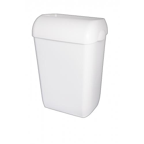 Kosz na śmieci 43-litrowy, kolor: biały